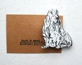 Dog Brooch Cute Brooch Basset Hound Brooch Dog Pin