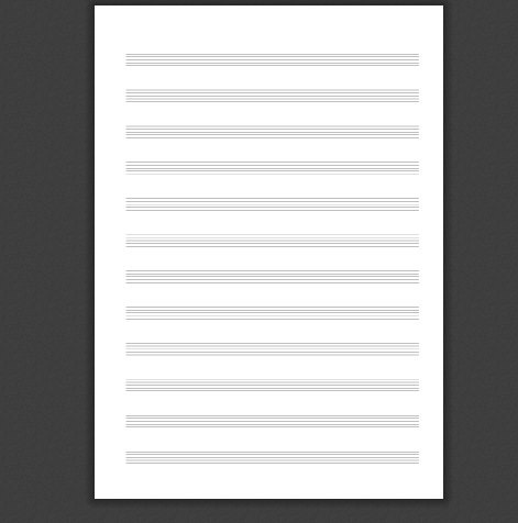 Music Notation Staff Paper PDF Generator