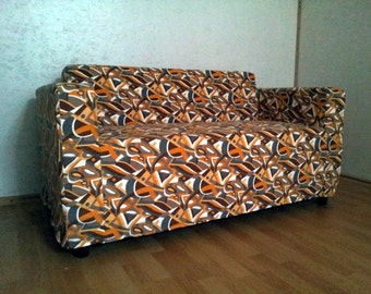 SALE from USD99 to 79 -> Custom made cover for Klobo sofa (from IKEA) , nice pattern,  strong cotton fabric *