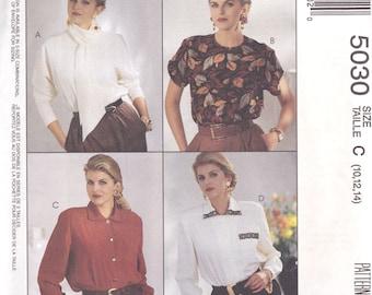 90s Career Blouses Pattern McCalls 5030 Sizes 10 - 14 Uncut