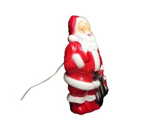 Vintage Santa Blow Mold - Vintage 1960's Santa Claus, Empire Blow Mold, Light Up Santa Claus, Retro Xmas Decor, Mid Century Christmas, WORKS
