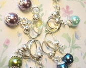 Pastel Pearl Bead Dangle Earrings