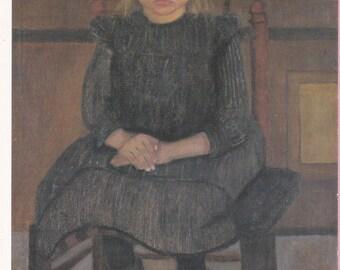 "Large ""Worpsweder Bauerkind auf eimen Stuhl Sitzend"" by Paula Modersohn-Becker Art Postcard - 1271"