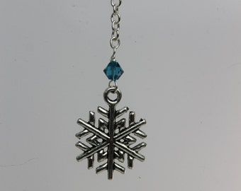 Snowflake Cell Phone Charm