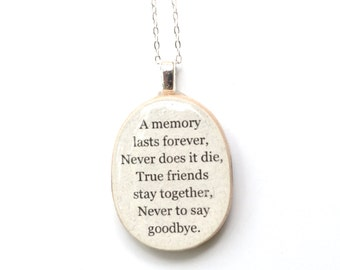 Gift Best friend necklace best friend jewelry going away gift friendship necklace personalized jewelry graduation gift  best friends
