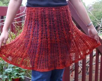DIY CROCHET - crochet Mini Skirt - crochet Skirt - Beach wrap skirt - crochet Capelet - crochet Lariat - crochet Wrap Bracelet - DIY wrap