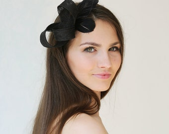 Millinery fascinator with cut-out feathers, special occasion headpiece, bridesmaid accessory