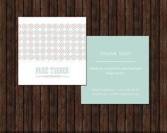 3x3 Thank You Card for Photographers - MK9C