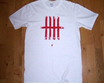 LFC 'Keeping score' screen printed tshirt (white – M)