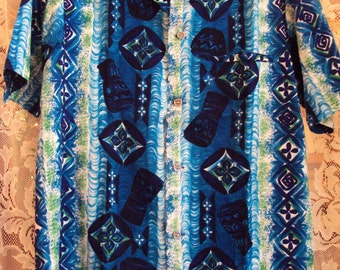Vintage Napili Hawaiian Barkcloth Shirt 1960s