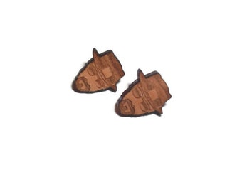 Breaking Bad Earrings, Walter White Heisenberg, Wooden Laser Cut Geek Jewelry