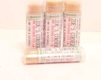 Deodorant Sample -LIME &  PINE- 100% Natural  Deodorant - Aluminum Free Deodorant