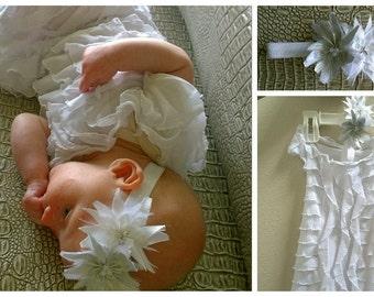 Baby Girl Baptism Dress, Baby Girl Christening Dress, Blessing Dress, White Dress, Flower Girl Dress, Birthday Dress