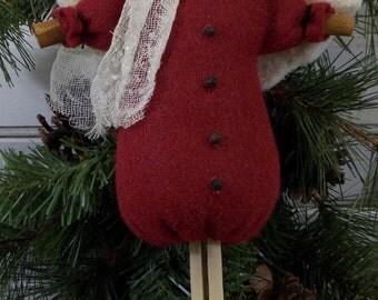 Primitive Angel Clothespin Ornament