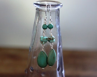 Magnesite Dangle Earrings