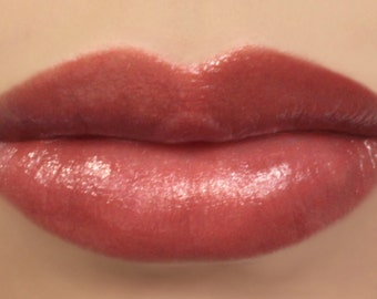 "Vegan Lipstick - ""Rosebud"" (semi sheer natural red) natural lip tint, balm, lip colour mineral lipstick"