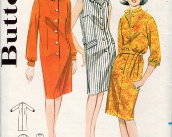 vintage Butterick 3137 sewing pattern // Misses' Step In Shirt Dress