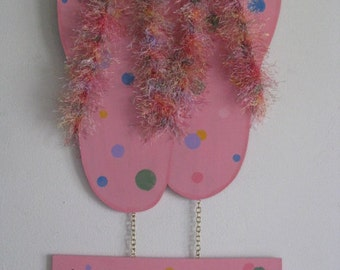Flip Flops, Shoes, Summer,  Welcome, Wall/Door Decor, Beachhouse