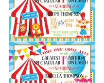 Carnival/Circus Theme Birthday Invitation-DIGITAL DOWNLOAD