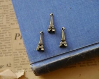 10 Antique Bronze Eiffel Tower Charms 21mm (SC2182)