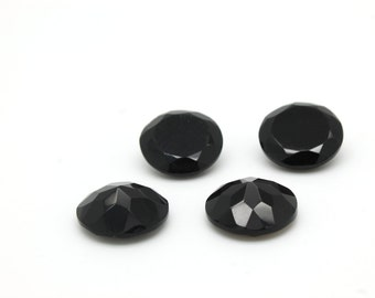 GCF-1067 - Onyx Faceted Gemstone - Round 16mm - Calibrated Gemstones - AA Quality - 1 Pc