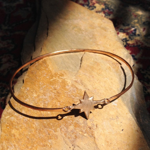 Compass Charmed Bangle in Bronze