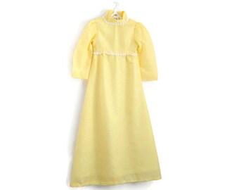 ON SALE, Girls Dress, Girls Vintage Dress, Girls Party Dress, Flower Girl Dress, Girls Maxi Dress