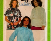 """Vintage 1970s Peasant Blouse Sewing Pattern, Simplicity 8293 Jiffy Pattern, Size Small Bust 32 1/2"""" - 34"""" (82.6 - 86.4cm), Free US Shipping"""