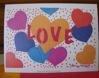 Love ll Greeting Card