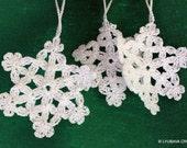 Crochet Snowflake PATTERN-Christmas Tree Ornaments-DIY Winter Crochet-Christmas Decor-Instant Download PDF Pattern No.3 by Lyubava Crochet