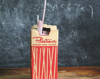 Vintage  Plastistraws Original Box