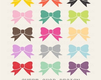Bows Clip Art, Printable Clip Art, Royalty Free Clip Art, Instant Download