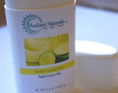 Sweet Cucumber Solid Lotion Bar - Cucumber Melon Scented Lotion Bar - Lotion Stick - Natural Solid Lotion