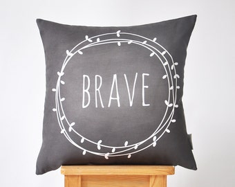 "Modern Decorative Pillows, Nursery Pillow, Kids Pillow, Throw Pillow, Chalkboard Pillow 16"" x 16"""