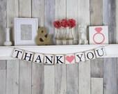 Thank you Banner, Thank you Wedding Reception, Thank you Sign, Coral Wedding Decor