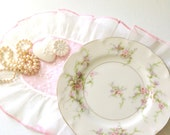 Vintage Theodore Haviland New York Rosalinde Pattern Fluted Edge French Plate / Dish Tea Party Gathering - c. 1937 - 1956