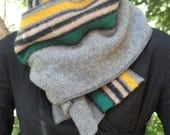 Striped wool scarf, thick and cozy, Green Bay Packers, Oregon Ducks team colors, durable and timeless, for men or women...