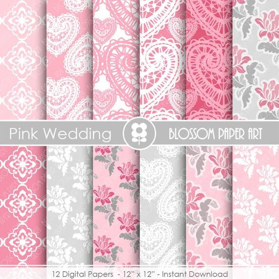 Papeles decorativos rosa y gris papeles decorativos para - Papeles decorativos pared ...