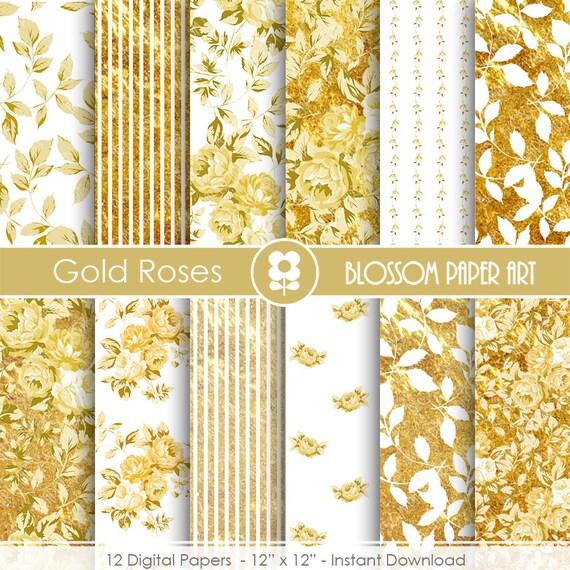 Papel decorativo dorado papeles decorativos floreados oro for Papel decorativo dorado