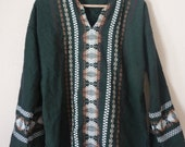 SALE Ethnic Green Embroidered Tunic