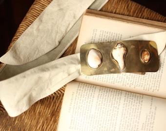 Brass Slide Handmade Seashell Belt