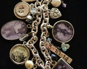Graduation Charm Bracelet, College Graduation Gift, Charm Bracelet, Personalized Keepsake Jewelry, Assemblage Jewelry, Scales of Justice