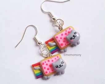 Super Cute Poptart Cat Earrings