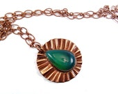 Gem Chrysoprase Copper Necklace 22 inch adjustable