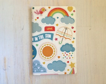 Large Notebook: Sun, Rainbow, Fun, Favor, Notebook, Unlined, Journal, For Her, For Him, Gift, Unique, Blank Journal, Unlined Journal, L8-058