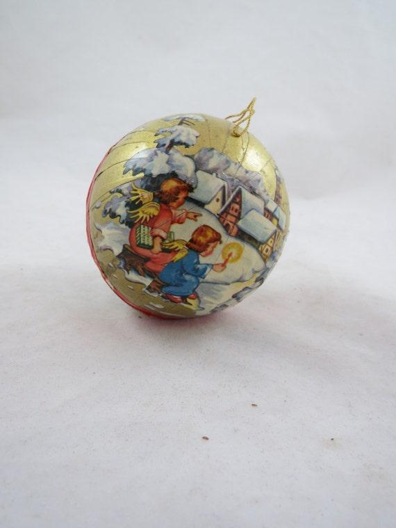 DIY Paper Ornaments: Vintage Paper Mache Stars -