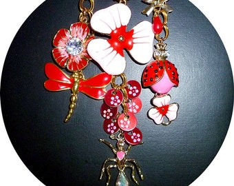 Red and pink necklace