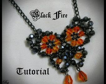 Black Fire Pendant Tutorial