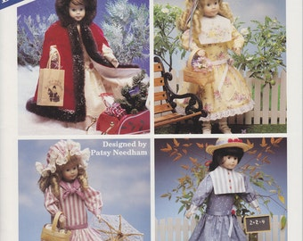 Baner Design Doll Clothes Patterns - Four Seasons - Patterns for Wang 16 Inch Dolls