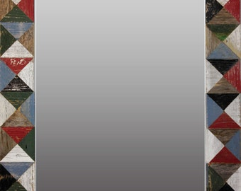 Rustic Mosaic Mirror
